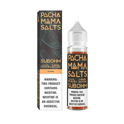 Pachamama E-Liquid SubOhm Salts - Icy Mango - 60ml / 0mg