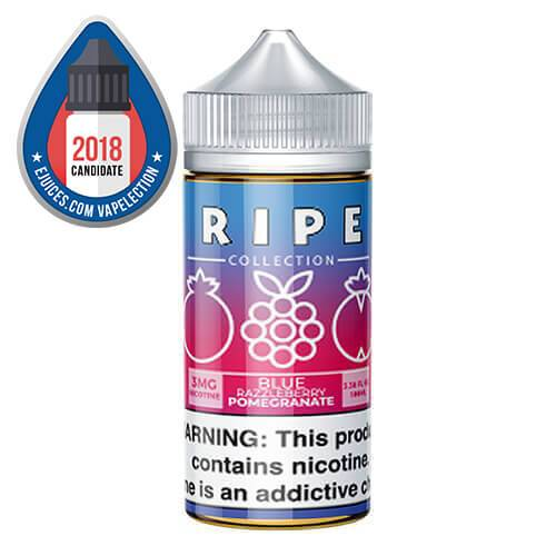 Ripe Collection by Vape 100 eJuice - Blue Razzleberry Pomegranate - 100ml / 6mg