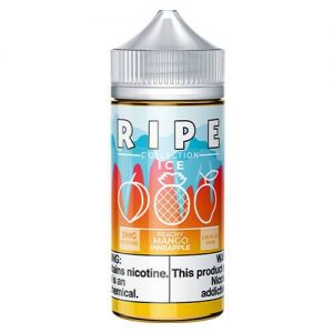 Ripe Collection on Ice by Vape 100 eJuice - Peachy Mango Pineapple On Ice - 100ml / 3mg