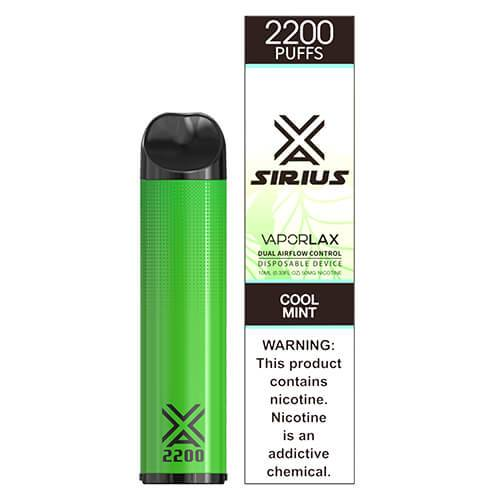 Sirius by VaporLAX - Disposable Vape Device - Cool Mint - Single / 50mg