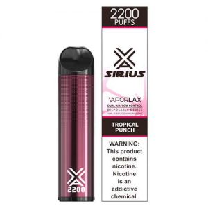 Sirius by VaporLAX - Disposable Vape Device - Tropical Punch - Single / 50mg