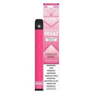 VEGAZ by VaporLAX - Disposable Vape Device - Strawberry Banana - Single / 50mg