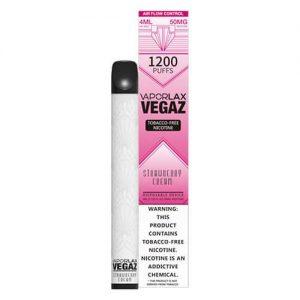VEGAZ by VaporLAX - Disposable Vape Device - Strawberry Cream - Single / 50mg