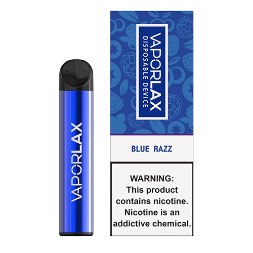 VaporLAX - Disposable Vape Device - Blue Razz - Single / 50mg