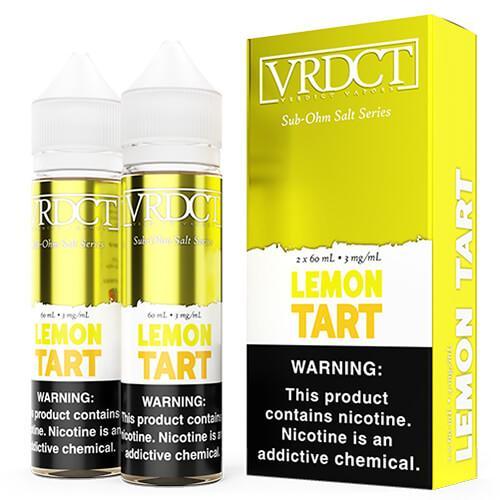 Verdict Vapors Sub Ohm Salts - Lemon Tart - 2x60ml / 3mg