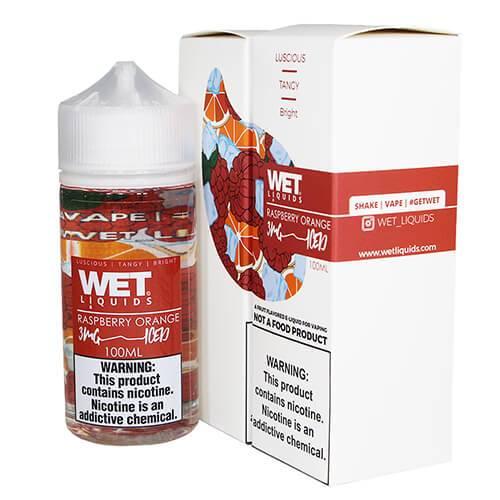 Wet Liquids ICED - Raspberry Orange ICED eJuice - 100ml / 3mg