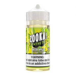 Zooka Synthetic - Green Apple eJuice - 100ml / 6mg
