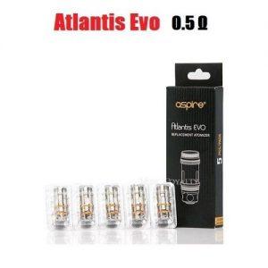 Aspire Atlantis Evo Coils - 0.5 ohm (35-40W) - Default Title