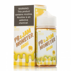Peanut Butter & Banana by Jam Monster E-Liquids (100mL)